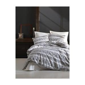 Obliečky s plachtou na dvojlôžko z ranforce bavlny Mijolnir Pizza White, 200 × 220 cm