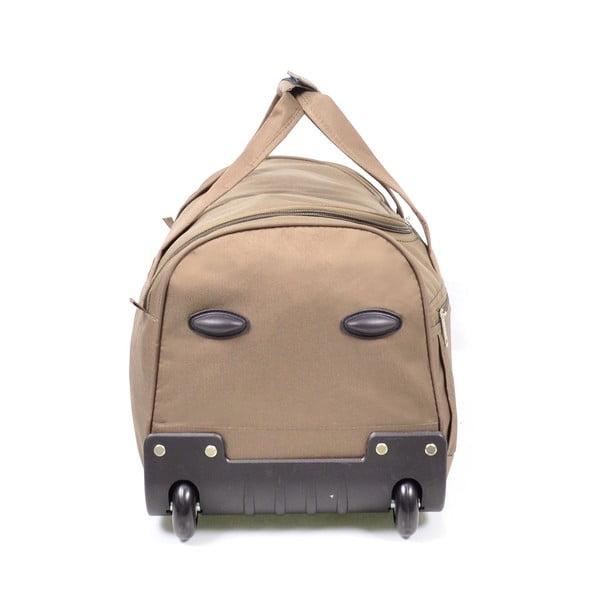 Béžová cestovná taška nakolieskach Hero, 43 l