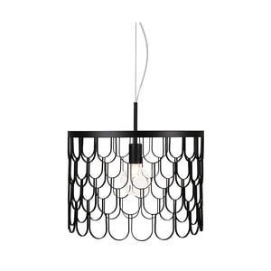 Čierne závesné svietidlo Globen Lighting Gatsby, ø 45 cm