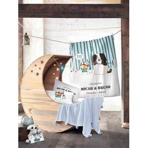 Set detských obliečok a plachty s pletenou dekou Bruno, 100x150 cm