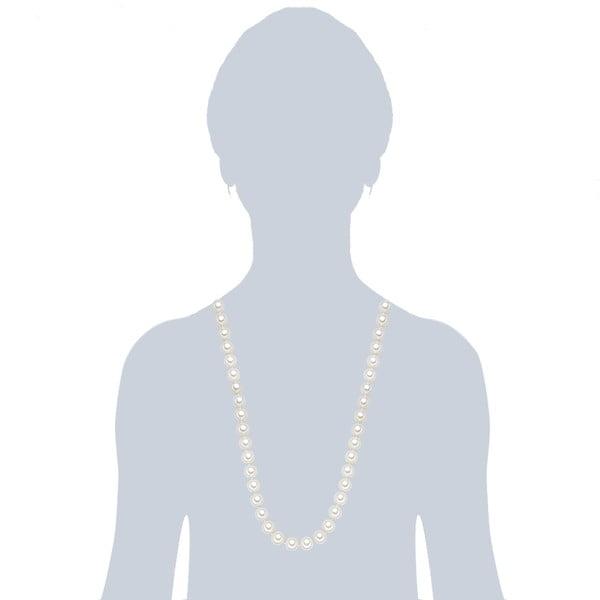 Náhrdelník s bielymi perlami ⌀ 12 mm Perldesse Muschel, dĺžka 80 cm
