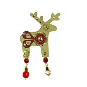 Zlatá brošňa Deers Bessie, 7 cm