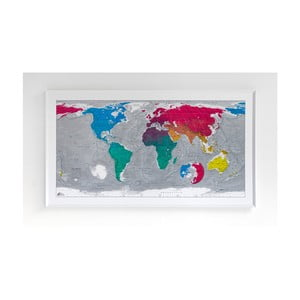 Mapa sveta v priehľadnom puzdre The Future Mapping Company Colourful World, 130×72cm