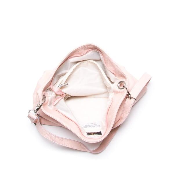Kožená kabelka Luisa Vanini 1029, ružová