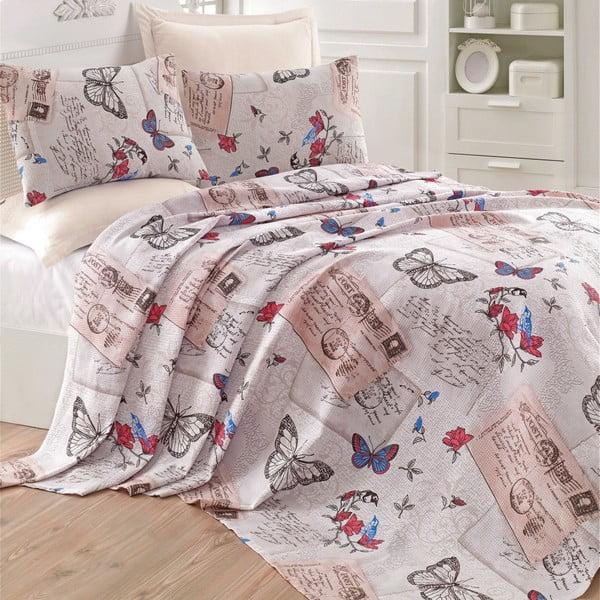 Prikrývka na posteľ Retrofy Beige, 200x235