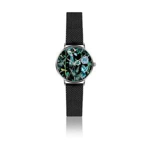 Dámske hodinky s remienkom z antikoro ocele v čiernej farbe Emily Westwood Garden