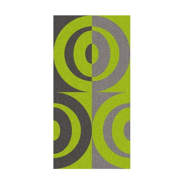 Osuška Ladessa, zelené kruhy, 70x140 cm