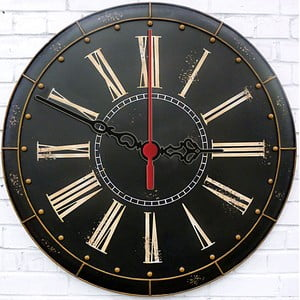Nástenné hodiny Dark Vintage, 30 cm