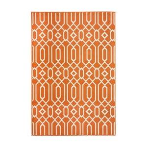 Oranžový koberec Nourison Baja Talara, 229×160cm