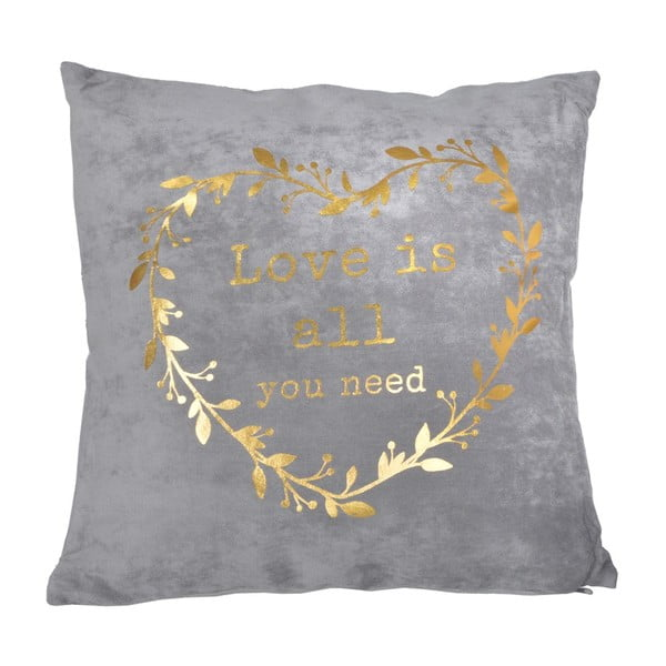 Vankúš s výplňou Golden Heart, 45x45 cm