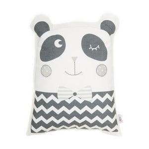 Sivý detský vankúšik s prímesou bavlny Apolena Pillow Toy Panda, 25 x 36 cm