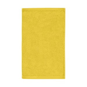 Žltý uterák z egyptskej bavlny Aquanova London,30x50cm