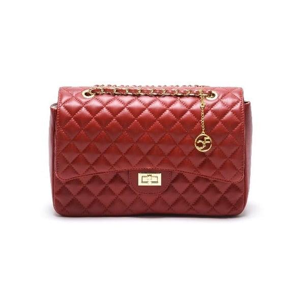 Kožená kabelka Casla, červená