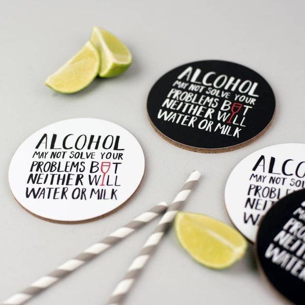 Set 4 podložiek pod pohár Alcohol Problems