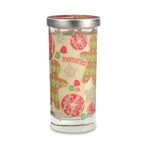 Vonná sviečka Glass Bridgewater Candle, vôňa hrozienok, kandizovaného ovocia, škorice a zázvoru
