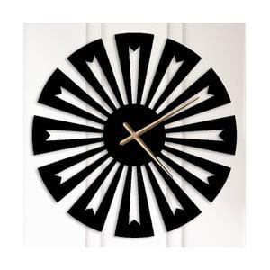 Čierne kovové nástenné hodiny Ethel