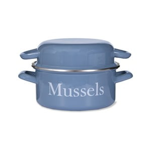 Modrý smaltovaný hrniec na mušle Garden Trading Mussel, 2,6 l