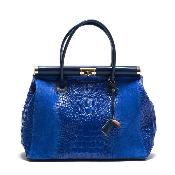 Kožená kabelka Anna Luchini 825 Bluette