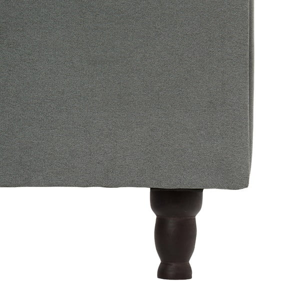Svetlosivá posteľ VIVONITA Allon 140x200cm, čierne nohy