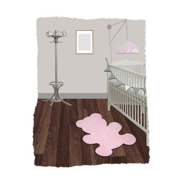 Detský ružový koberec Nattiot Little Teddy, 80x100cm
