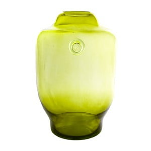 Sklenená váza, olivová