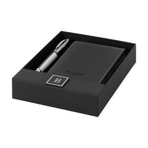 Set strieborného pera a zápisníka Balmain No. 13 v darčekovej krabičke