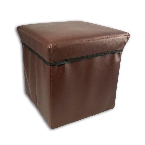 Taburetka s úložným priestorom Brown Stool