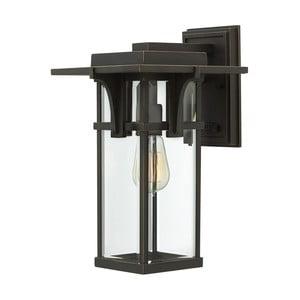 Čierne nástenné svietidlo Elstead Lighting Manhattan Uno Medium