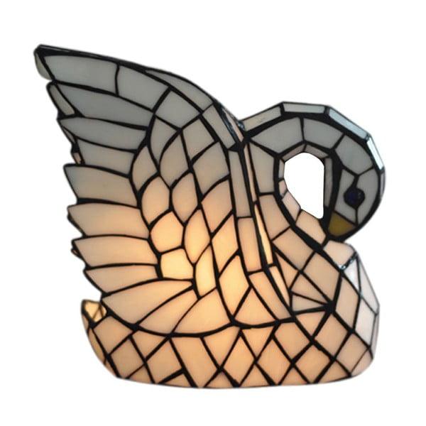Tiffany stolová lampa Swan Lamp