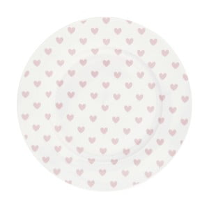 Keramický tanier Miss Étoile Rose Hearts, ⌀ 25 cm