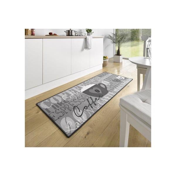 Sivý kuchynský koberec Hanse Home Coffee Cup, 67x180cm