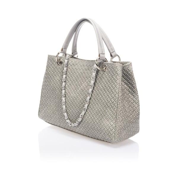 Sivá kožená kabelka Massimo Castelli Jannet