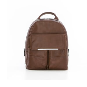 Tmavohnedý kožený batoh Gianni Conti Petrina