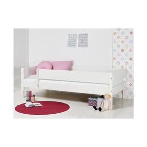 Biela detská posteľ s bezpečnostnými postrannými peľasťami Manis-h Huxie, 90 x 200 cm