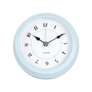 Modré nástenné hodiny Present Time Fifties, priemer 11,5cm