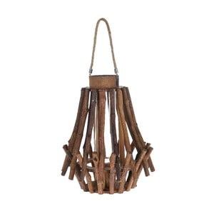 Drevený lampáš Bamboo, 31x38 cm