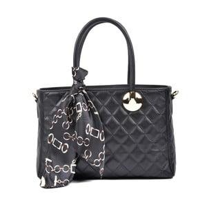 Čierna kožená kabelka Carla Ferreri Dura