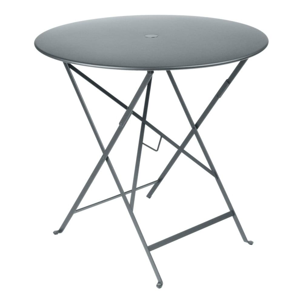 Sivý záhradný stolík Fermob Bistro, Ø 77 cm