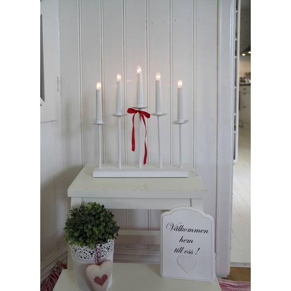 Svietnik s LED svetielkami Greta, biely