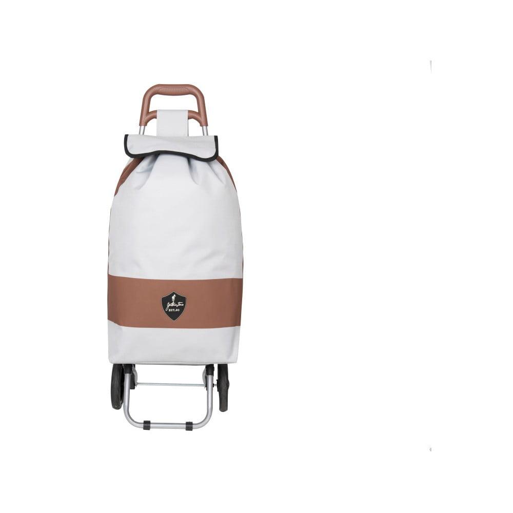 d00ec439e1359 Biela nákupná taška na kolieskach INFINITIF Chariot de Marché | Bonami