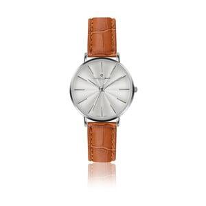 Dámske hodinky s remienkom v koňakovohnedej farbe z pravej kože Frederic Graff Silver Monte Rosa Croco Ginger