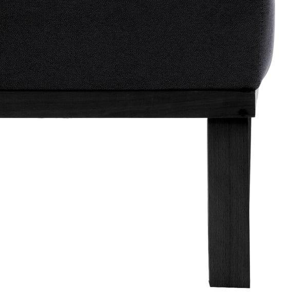Tmavosivá trojmiestna pohovka Vivonita Jonan, čierne nohy