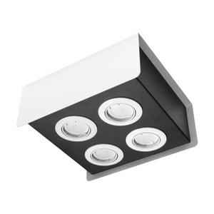 Bielo-čierne stropné svietidlo Nice Lamps Sain Quatro