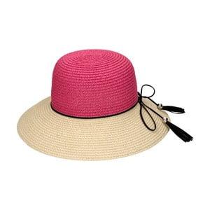 Slamený klobúk Fuchsia/Natural