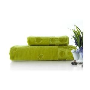Sada 2 osušiek Tropical Green, 70x140 a 50x90 cm
