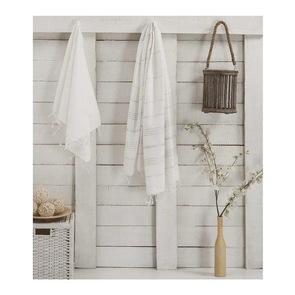 Sada 2 bielych uterákov Hammam Sultan