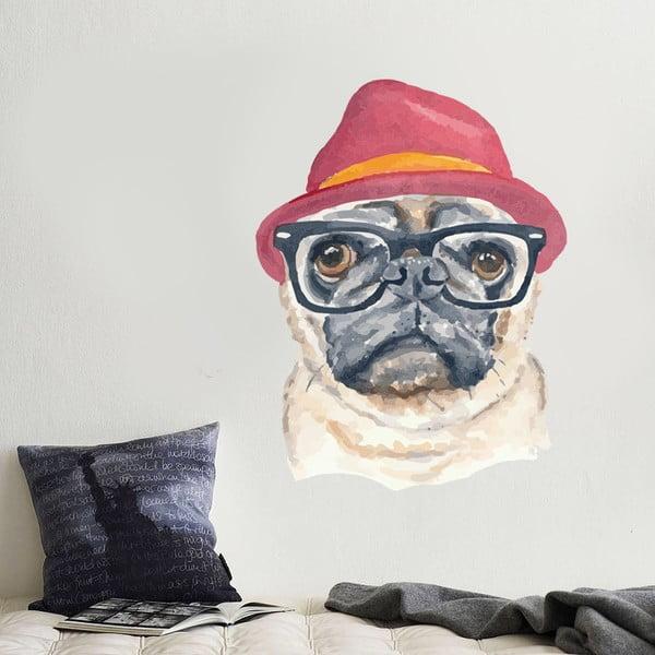 Samolepka na stenu Hipster dog
