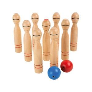 Detský set kuželiek z dreva Legler Skittles