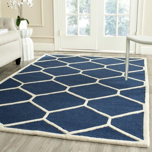 Tmavomodrý koberec Lulu 121×182 cm