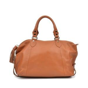 Koňaková hnedá kožená kabelka Mangotti Debra